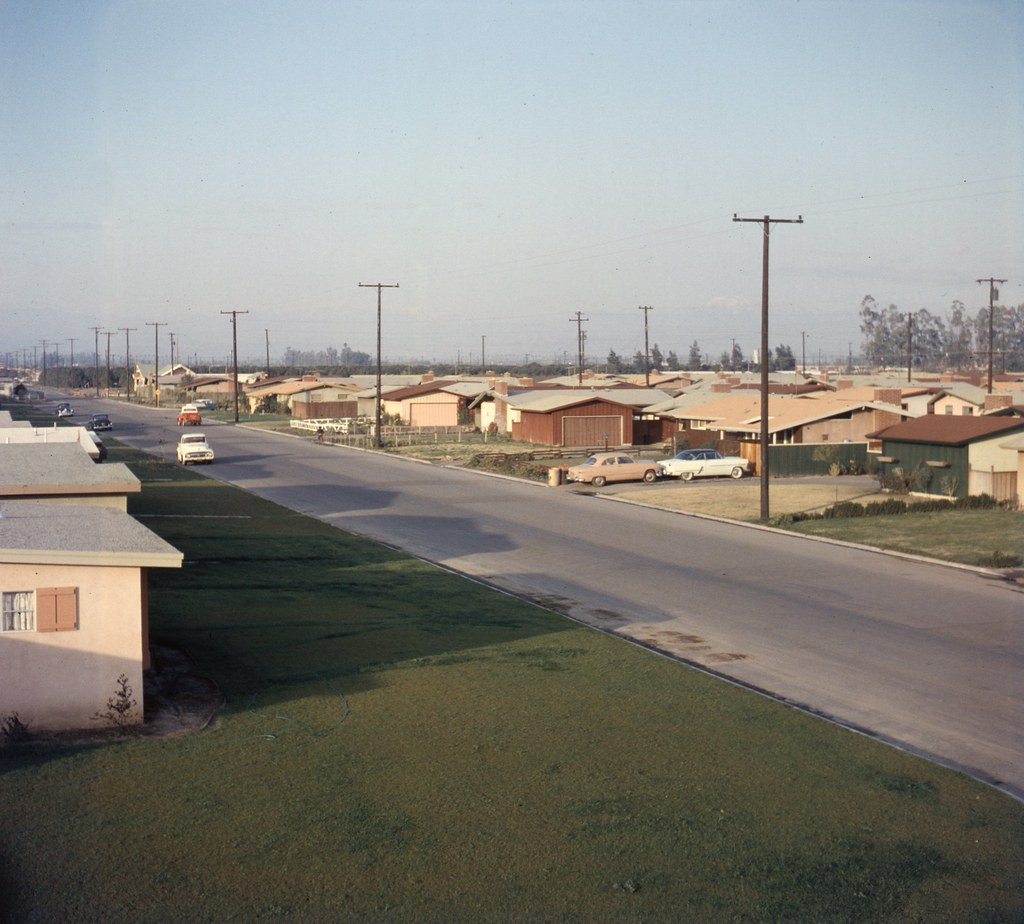 Apartments In Orange County: Housing Tract, 10600 Block Of Gilbert Ave., Anaheim, 1957