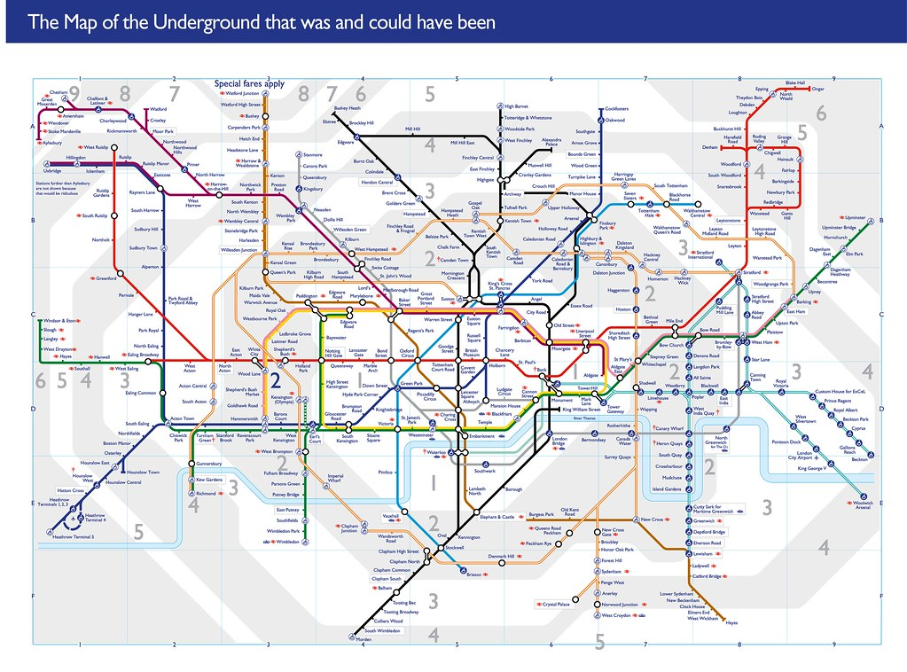 The Map Of The Underground That Was And Could Have Been Flickr - London map pdf 2015