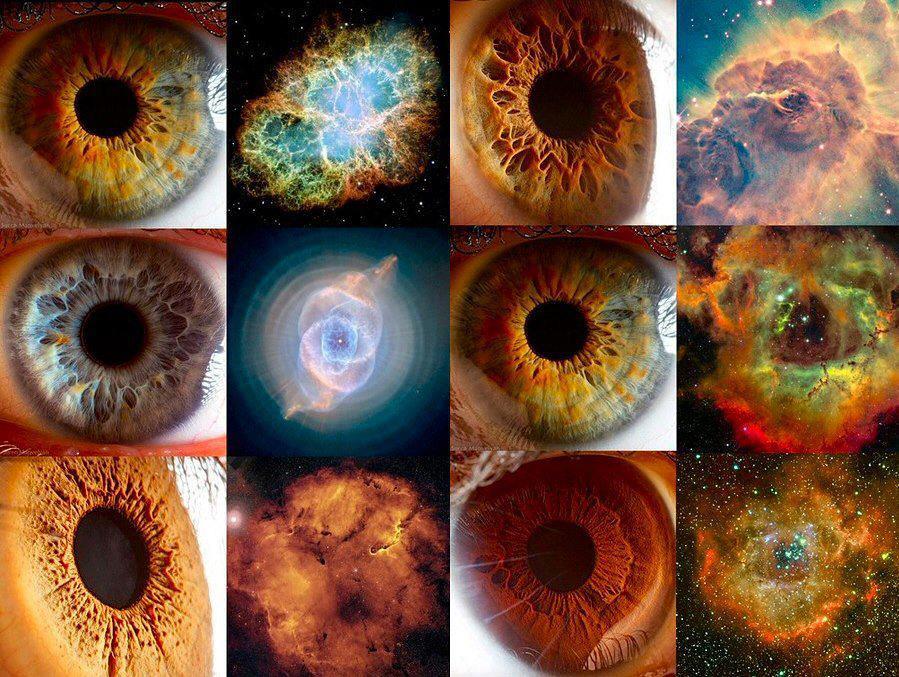 Patterns in Nature: Nebula & Human Eye..   Patterns in ...