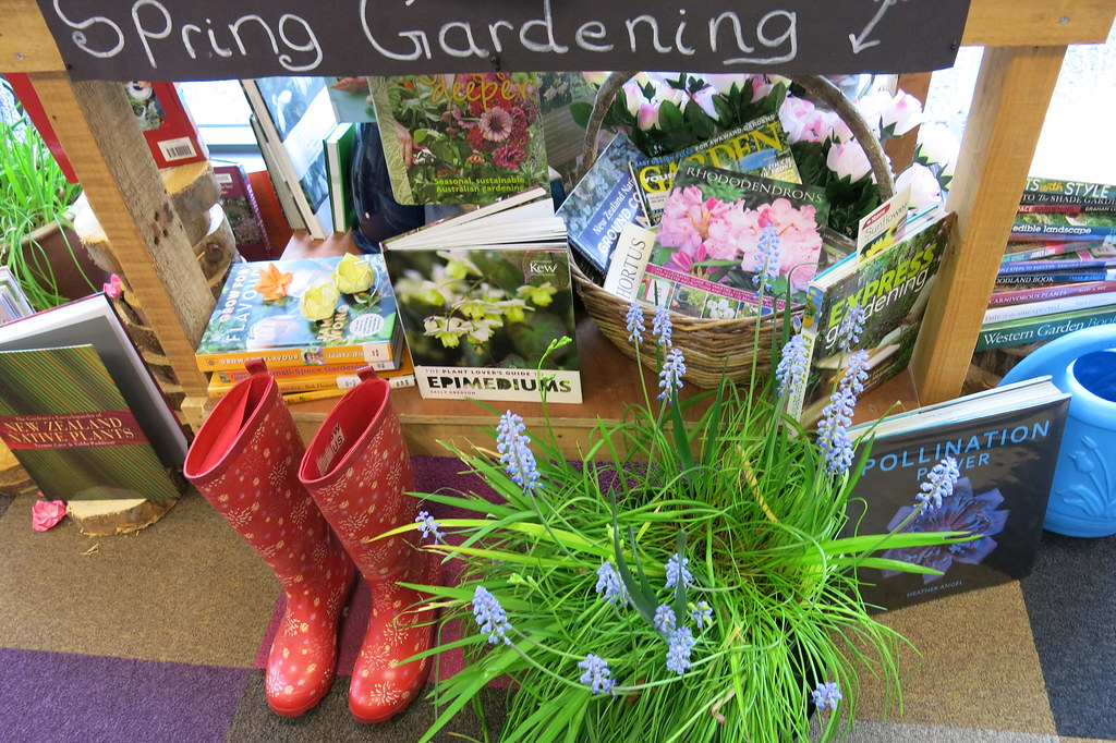 Spring Gardening Display Central Library Peterborough