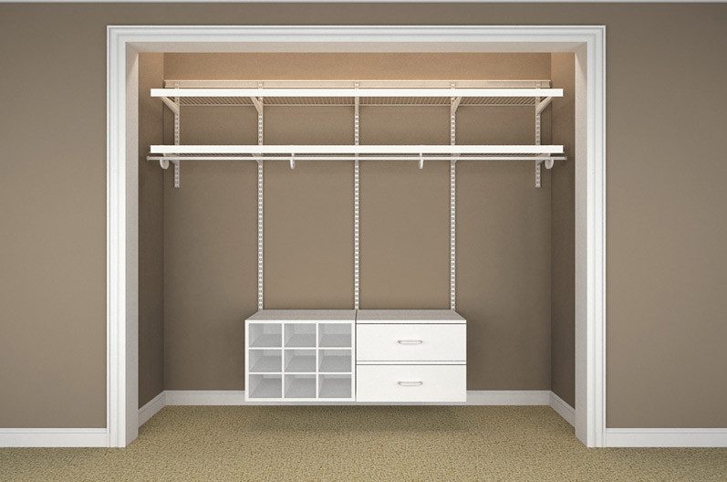... Elite Accessories Reach In White Bedroom 55 Empty | By ClosetMaid