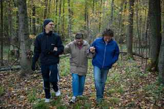 Mark, Grandma Jeanne and Lisa on our Land | by goingslowly