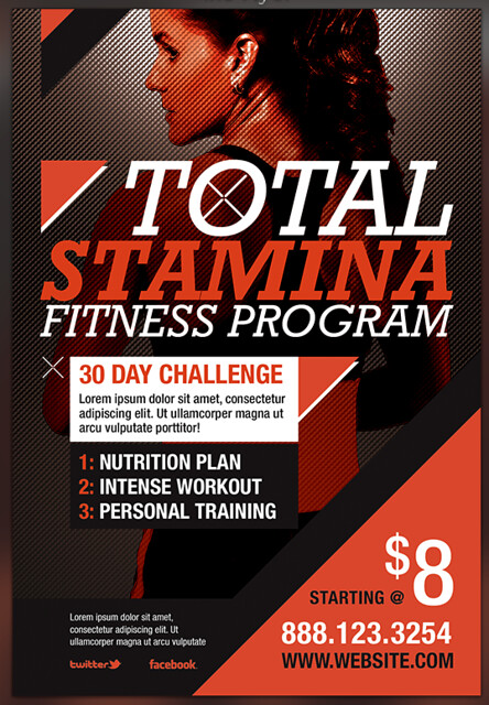 total stamina fitness flyer template preview flickr photo sharing. Black Bedroom Furniture Sets. Home Design Ideas