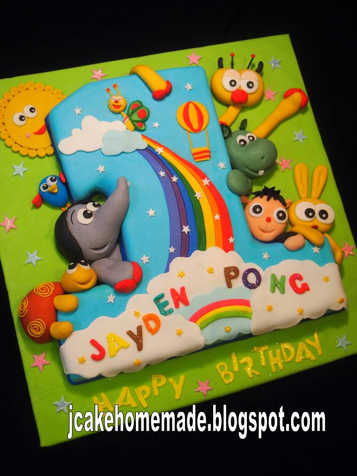 Baby Tv Birthday Cake Happy 1st Birthday Jayden Pong