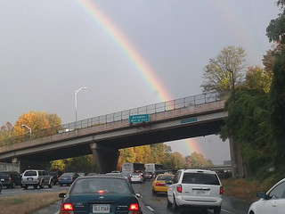 Rainbow over Haycock Road overpass on I-66 | by wfyurasko