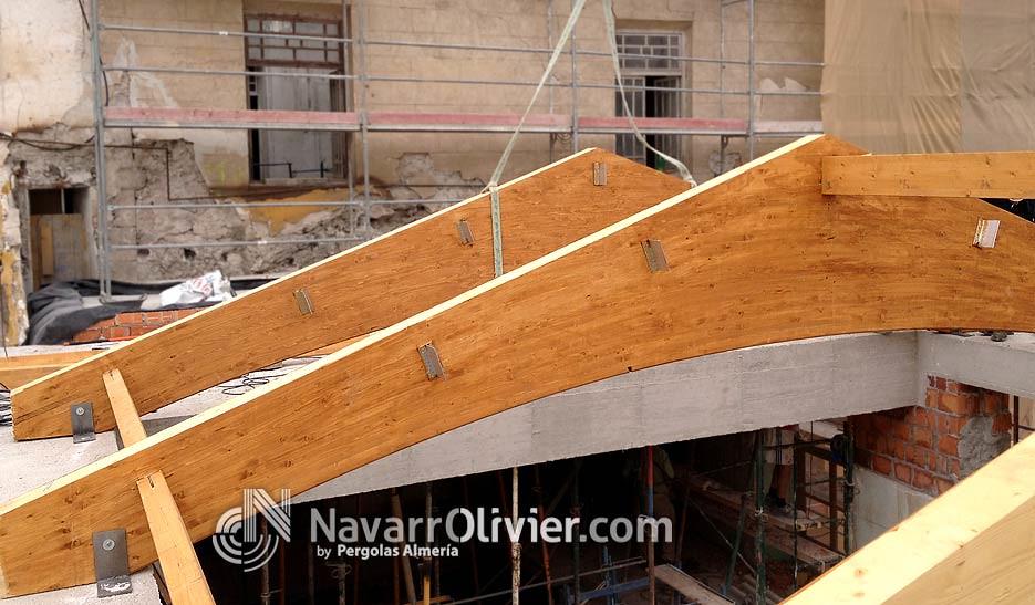 Fijacion de vias a cerchas cerchas de madera laminada - Estructura madera laminada ...