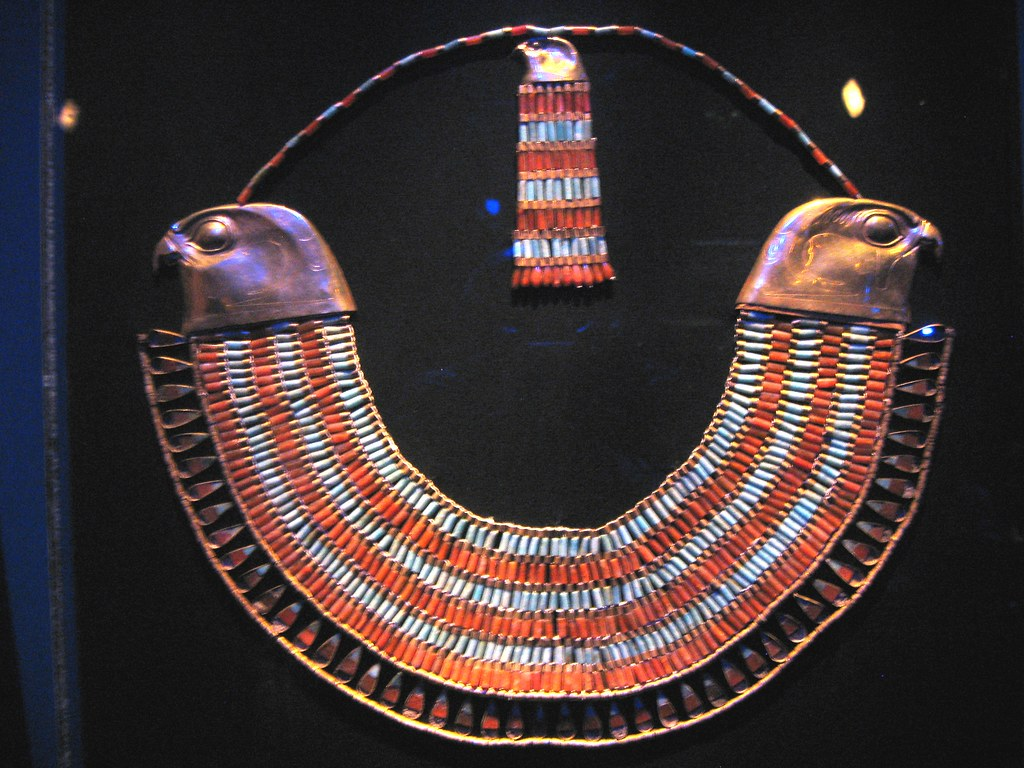"""Fired Up >> Princess Neferuptah's """"Usekh"""" Necklace 