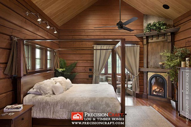 Master Bedroom Precisioncraft New Jersey Log Home
