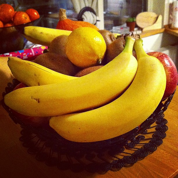 Day 14 Something Yellow Fruit Basket With Bananas And Lem