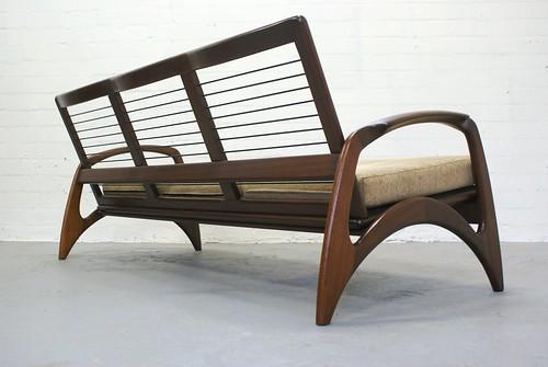 Vintage teak bank sofa jaren 50 60 de ster gelderland topf flickr - Bank jaren ...