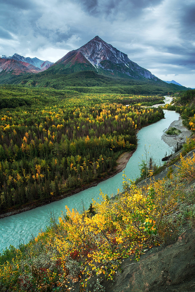 King Mountain And The Matanuska River King Mountain