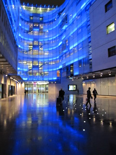 BBC New Broadcasting House is still shiny on a soggy evening | by Rain Rabbit