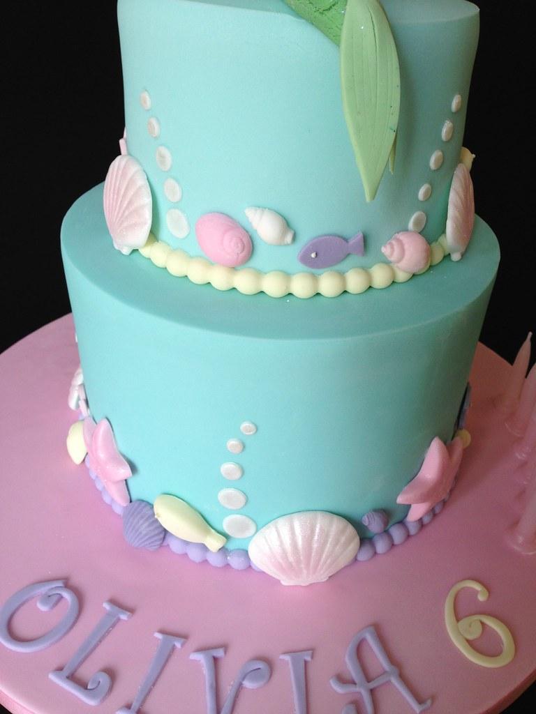 Pretty Mermaid Seashell 2 Tier Birthday Cake Chocolate M Flickr