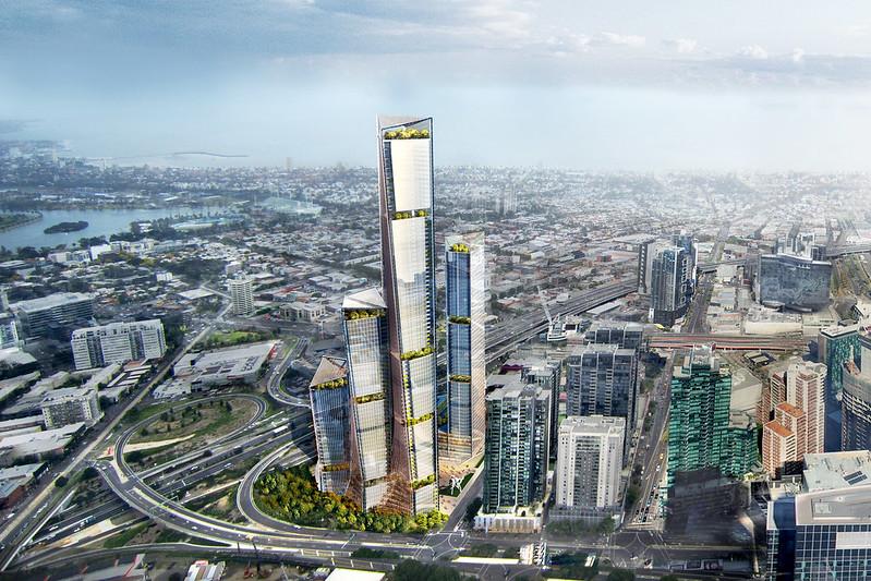 Комплекс небоскребов Kavanagh Street для Мельбурна. Проект Benoy
