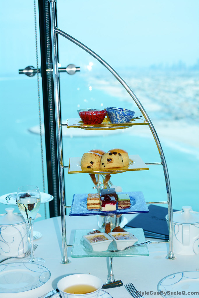 High afternoon tea at Burj Al Arab Skyview Bar