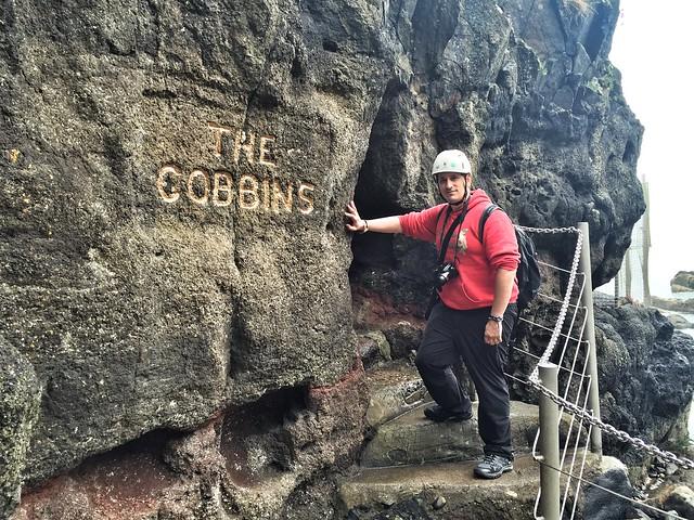 Sele en el sendero de los Gobbins (Irlanda del Norte)