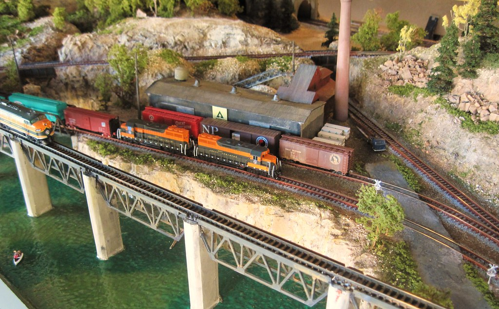 N scale great northern layout this is a small size n for N scale bedroom layout