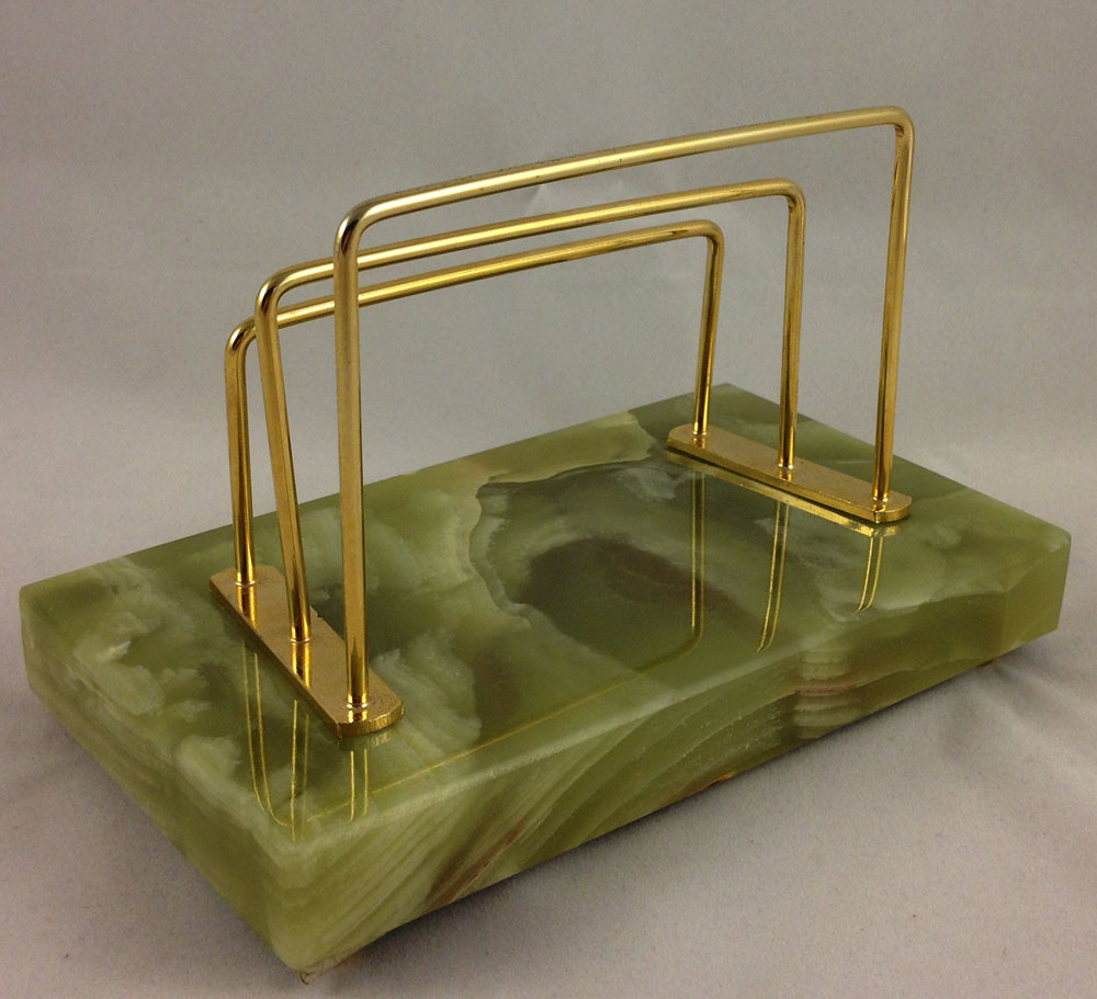 Green gold marble file letter holder not sure if for Gold letter rack
