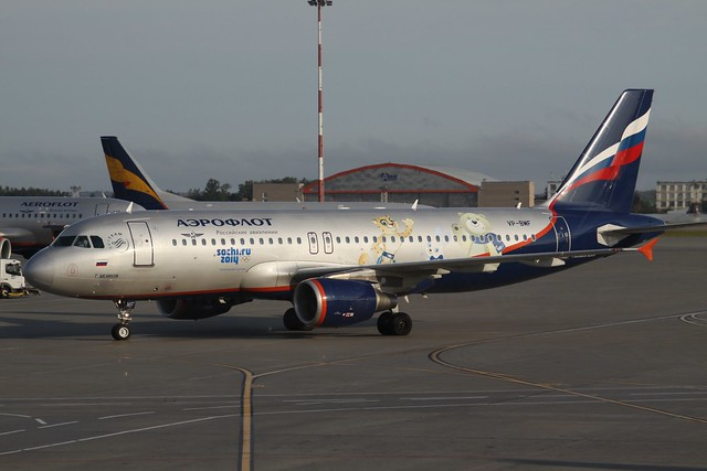 VP-BMF Airbus A.320 Aeroflot in Sochi Games 2014 Colours