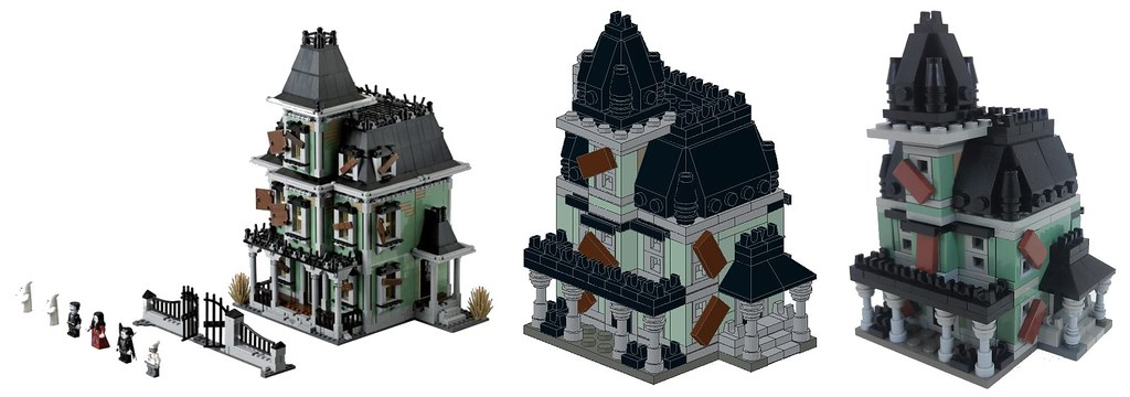 LEGO Haunted House Original Design Finished Microscale