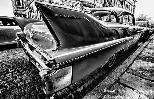 London Cadillac in Black and White | by ArtOnWheels