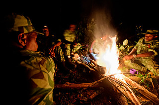Anti poaching patrol camp for the night, Gabon | by WWF - Global Photo Network
