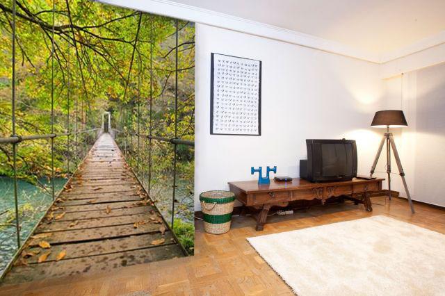 Paisaje puente colgante ref 9948188 - Murales pintados en la pared ...