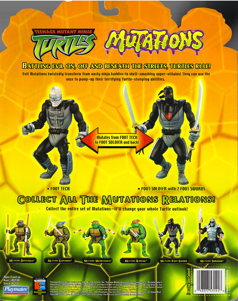 Teenage Mutant Ninja Turtles 2003 Toys : Teenage mutant ninja turtles quot mutations mutatin foot