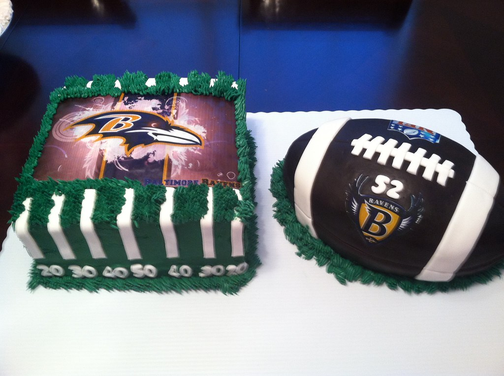 Raven Football Cake Ravens Football Cake | by