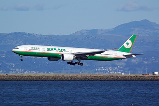 B-16712, B777-35EER EVA Air, BR18 TPE - SFO, San Francisco International (SFO), 27. 1. 2013 | by padacek