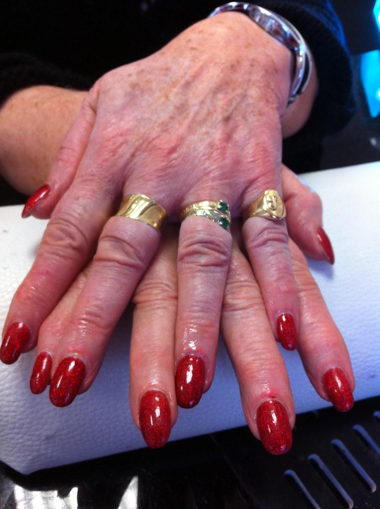 15 ongle gel rouge nacre pastel decor nail art french manu. Black Bedroom Furniture Sets. Home Design Ideas