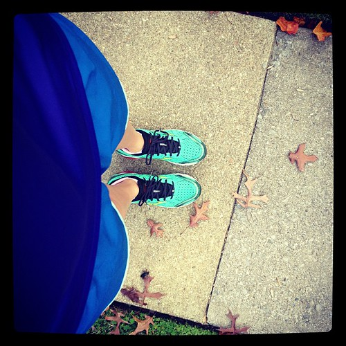 Running in shorts in November. No complaints here. @mizunorunning #fitfluential