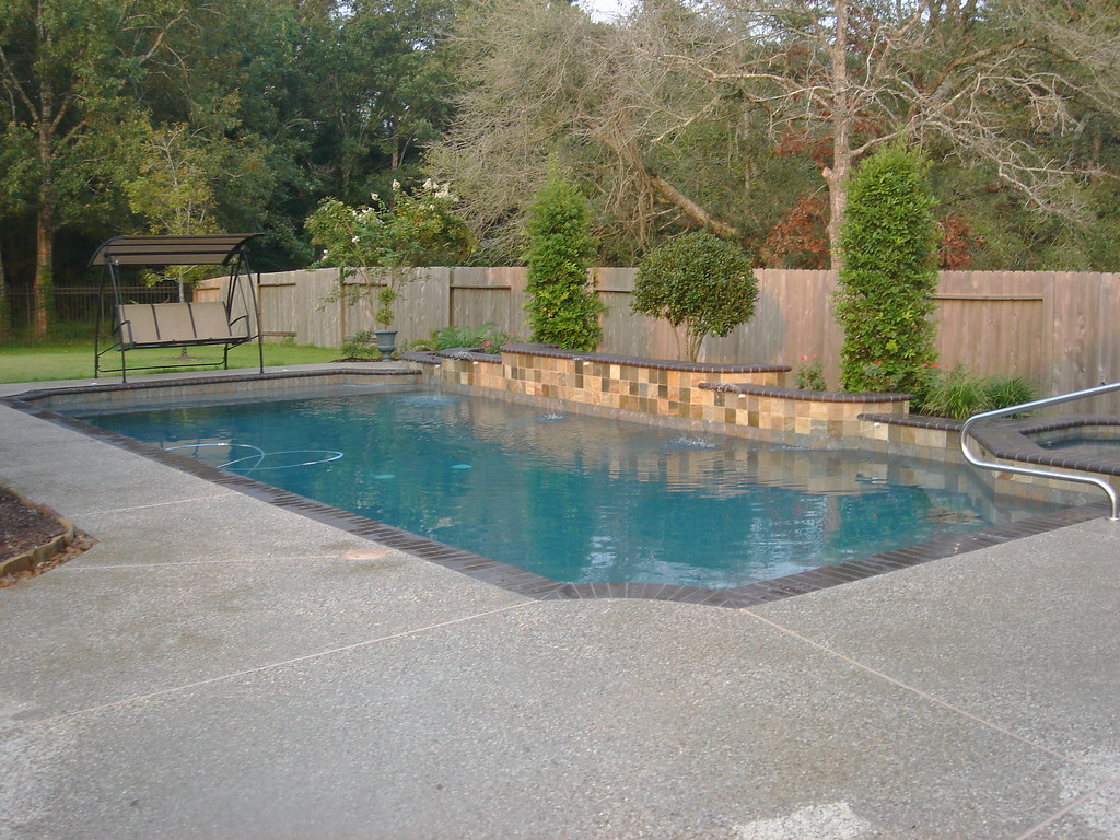 geometric pool design backyard amenities 10327 travis lane