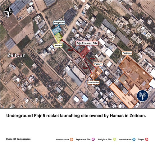 Long-Range Rocket Launch Site in Zeitoun Neighborhood | by Israel Defense Forces
