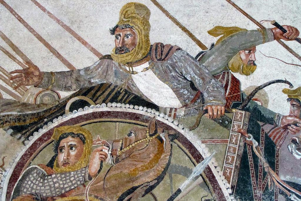 Alexander Mosaic Detail With Darius Iii In Chariot Flickr