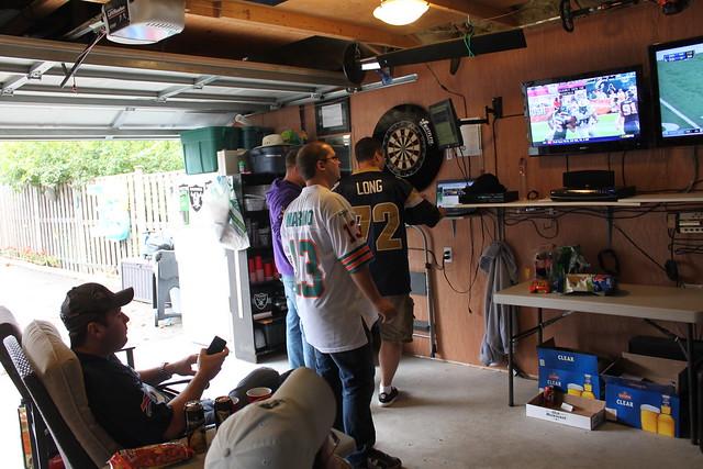 Man Cave Garage Cheap : Man cave garage football october th flickr