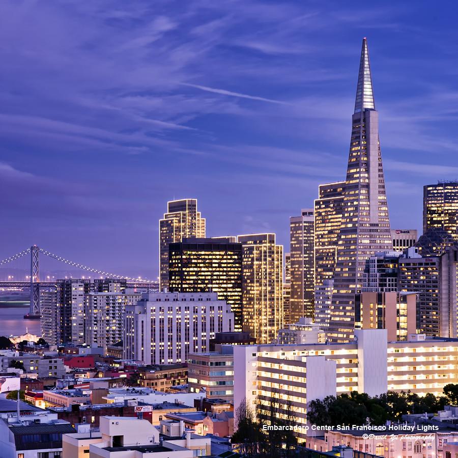 Embarcadero Center San Francisco Holiday Lights