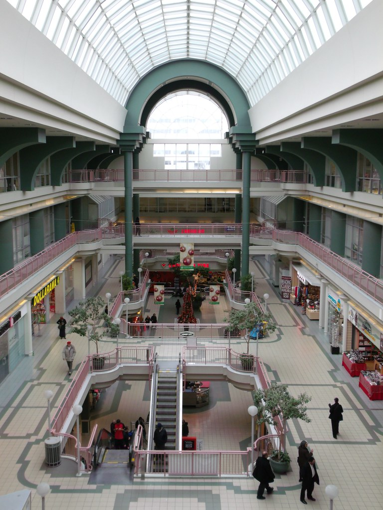 1980s Interior Of Lawrence Square Shopping Centre/Mall, To ...