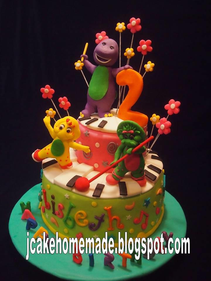 Barney 1st Birthday Cake Barney Birthday Cake Happy
