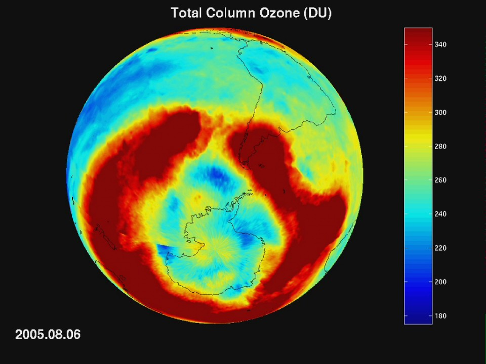 Nasa Space Pictures Of Earth Ozone Burden During An...
