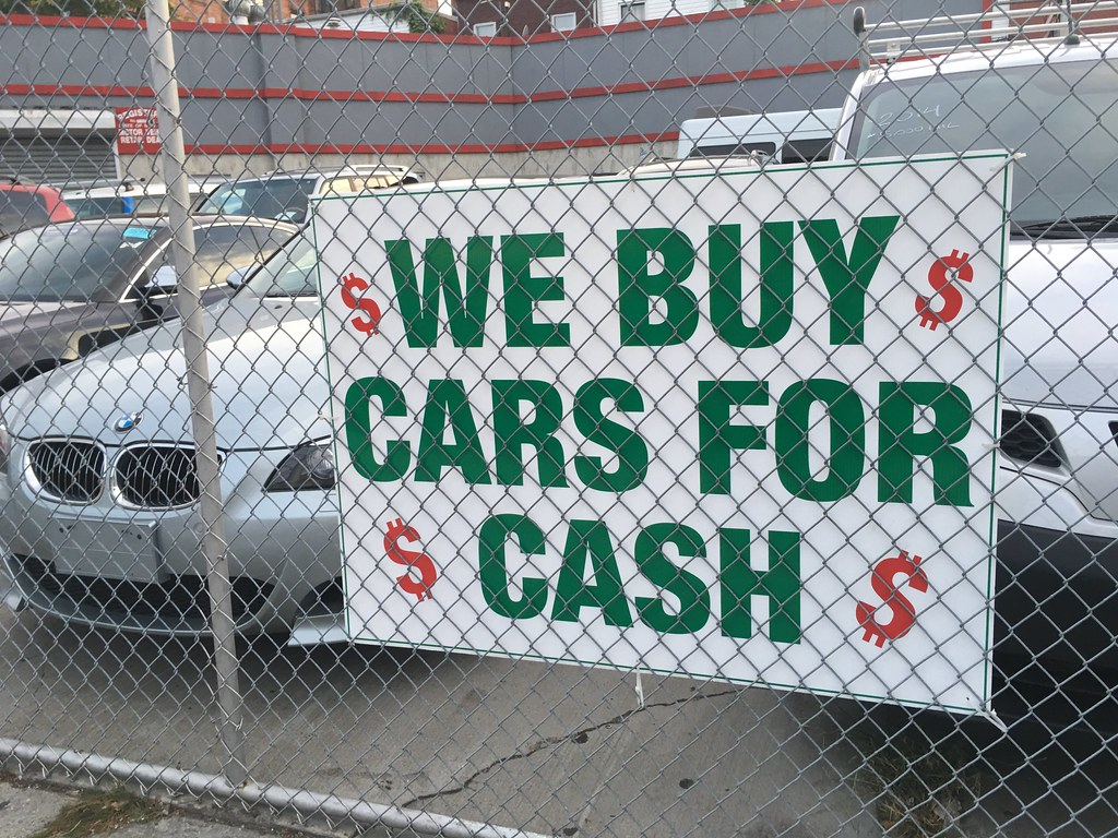 We buy cars for cash sign, 9/2016, Brooklyn, NY, Pics by M… | Flickr