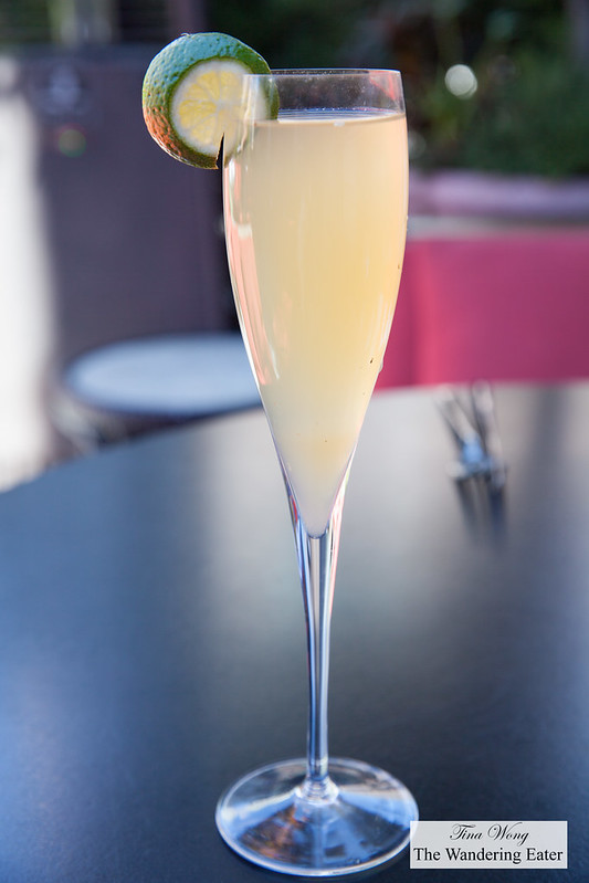 The Chrysler -  Champagne cocktail, honey, Hennessy Black cognac and fresh lemon and lime