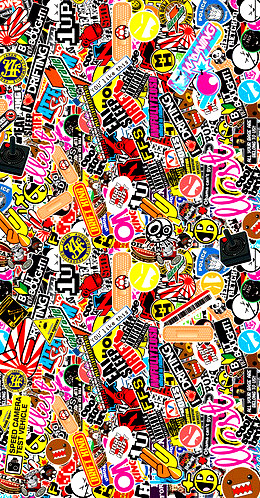 12 Best Sticker Bomb Images On Pinterest Wallpapers Stickers And