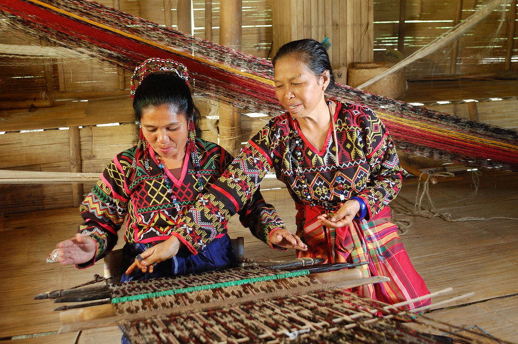 T Nalak Weaving Near Lake Seto Philippines Hilda Ugay