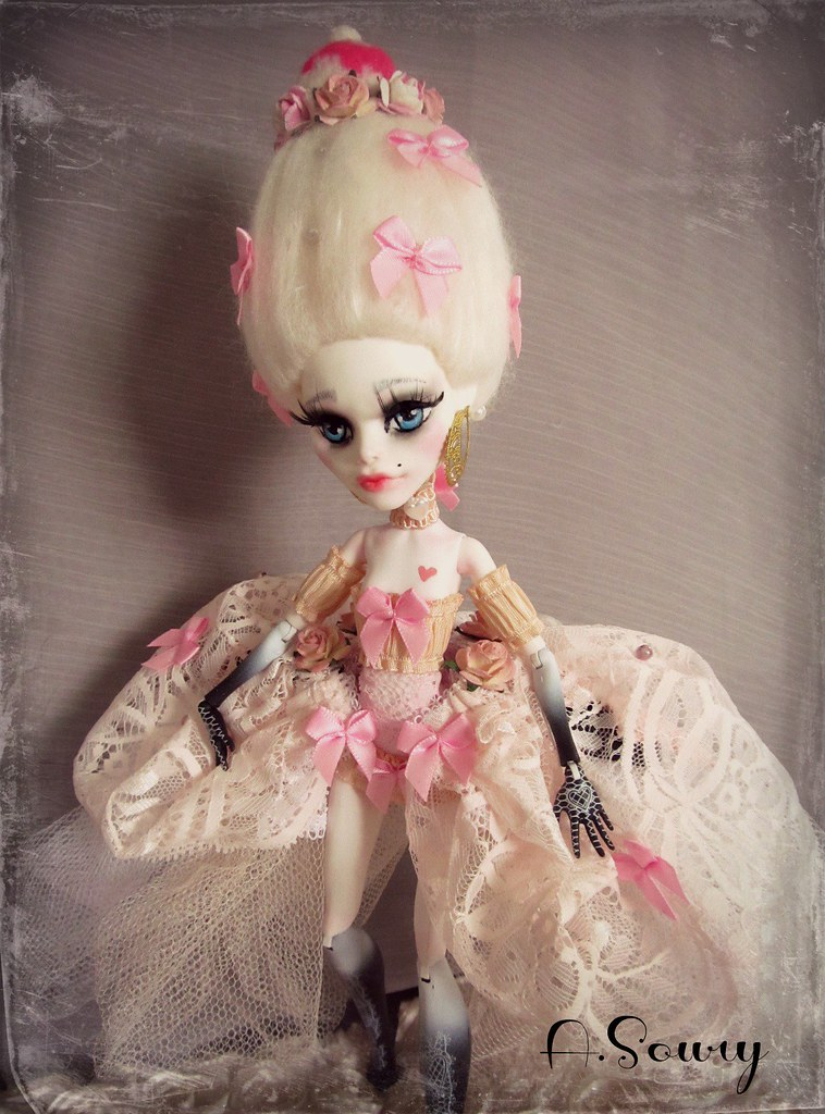 Marie Antoinette Repaint Of A Monster High Cupid In