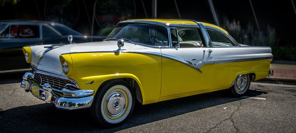 yellow 1956 ford crown victoria chris parfeniuk flickr. Cars Review. Best American Auto & Cars Review
