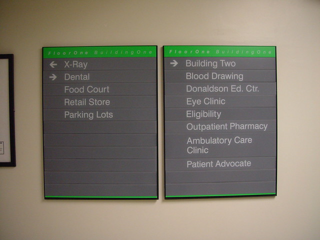 Interior Wayfinding Wall Mounted Directional Sign Flickr