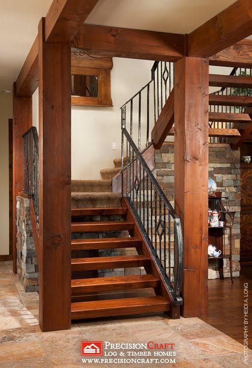 Timber Frame Stairs Arizona Precisioncraft Timber Home