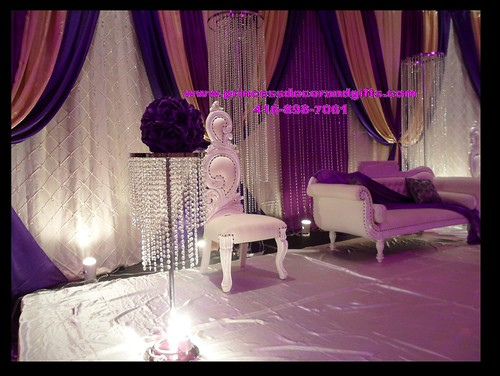 Nikkah stage decor purple bling these pictures are for Bling decor