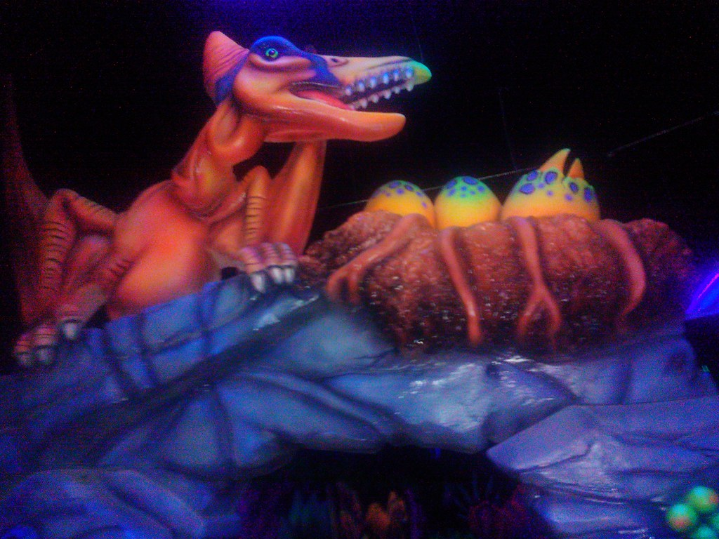 dino mommy dino baby hatching blacklight mini golf cour flickr. Black Bedroom Furniture Sets. Home Design Ideas